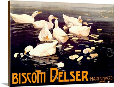 Biscotti Delser, Vintage Poster, by Mario Borgoni
