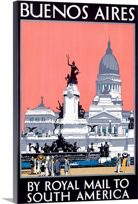 Buenos Aires, Royal Mail Line, Vintage Poster