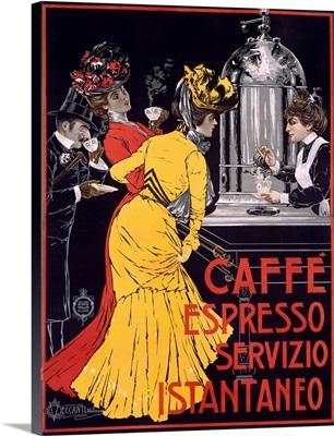 Caffe Espresso, Servizio, Instantaneo, Vintage Poster