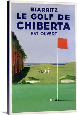 Chiberta, Biarritz, Vintage Poster