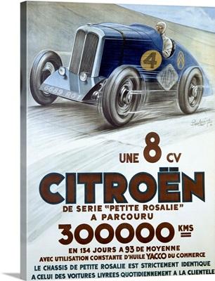 Citroen, Une 8 CV, Vintage Poster, by Louys