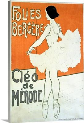 Cleo de Merode, Folies Bergere, Vintage Poster