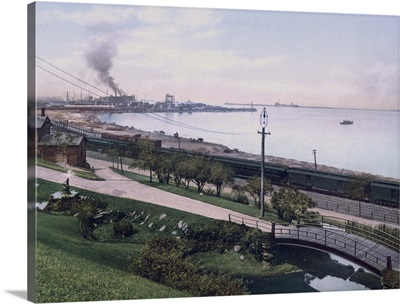Cleveland Harbor from Lakeview Park