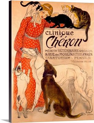 Clinique, Cheron, Veterinaire, Theophile Alexandre Steinlen, Vintage Poster