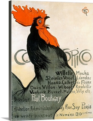 Cocorico, Vintage Poster, by Theophile Alexandre Steinlen