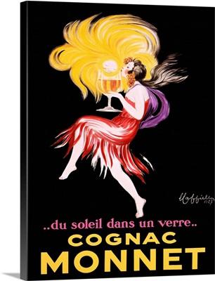 Cognac Monnet Vintage Advertising Poster