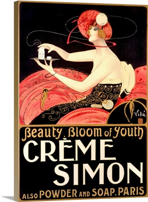 Creme Simon, Beauty, Bloom of Youth, Vintage Poster, by Emilio Vila