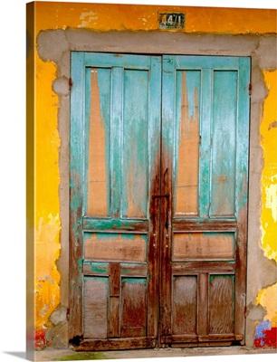 Cuban Blue Door