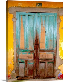 Cuban Blue Door