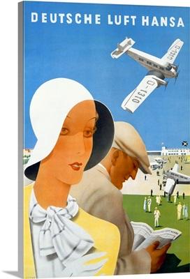 Deutsche Luft Hansa, Airlines, Vintage Poster
