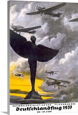German, airplanes, 1937, Vintage Poster