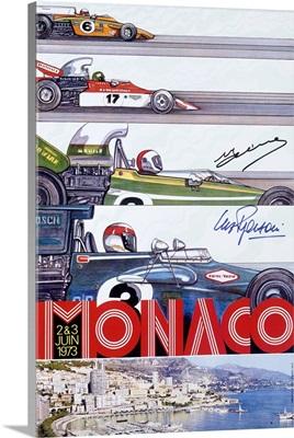 Grand Prix, Monaco, 1973, Vintage Poster
