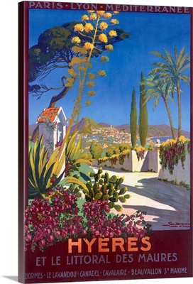 Hyeres, French Riviera, Vintage Poster, by Georges Dorival