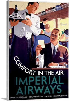Imperial Airways, Comfort In The Air, Vintage Poster
