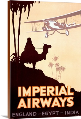 Imperial Airways, England, Egypt, India, Vintage Poster, by Peckham