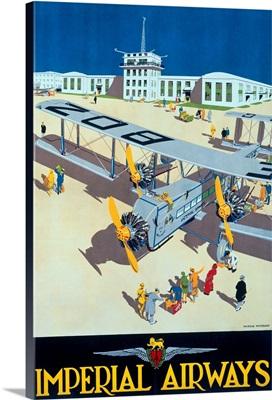 Imperial Airways, Vintage Poster, by Harold McCready