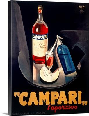 Italian Campari Aperitif Liquer Vintage Advertising Poster
