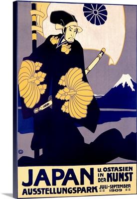 Japan, Kunst, 1909, Vintage Poster