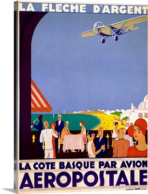 La Fleche d'Argent, Aeropostale, Vintage Poster