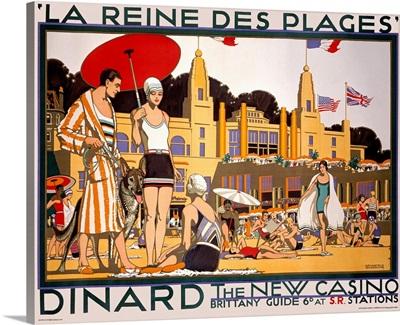 La Reine des Plages, Dinard, Vintage Poster
