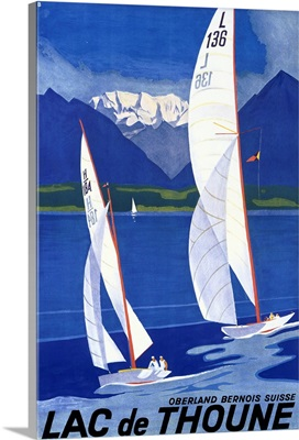Lac de Thoune, Vintage Poster, by Otto Baumberger