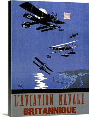 L'Aviation Navale, Britannique, Vintage Poster, by Nancy Smith