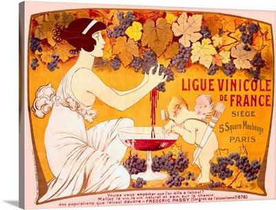 Ligue Vinicole de France, Vintage Poster, by Manuel Orazi