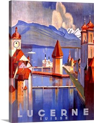 Lucerne Vintage Advertising Poster