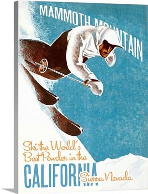 Mammoth Mountain Vintage Advertising Poster
