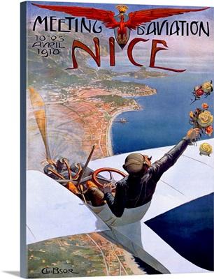 Meeting d'Aviation/ Nice Vintage Advertising Poster