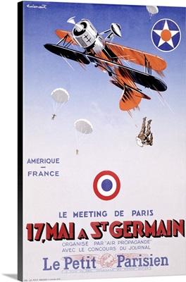 Meeting de Paris, St. Germain, Vintage Poster, by Le Petit Parisien