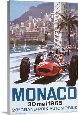 Monaco 1965 Vintage Advertising Poster