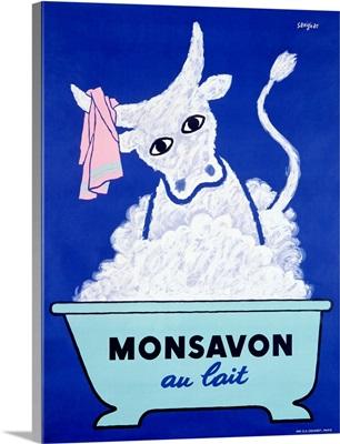 Monsavon Au Lait, Vintage Poster, by Raymond Savignac