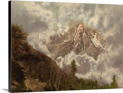 Mount Of The Holy Cross In The Clouds