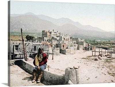 New Mexico Pueblo de Taos Vintage Photograph