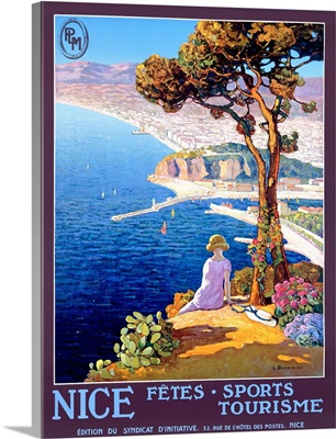 Nice, Festival of Sports and Tourism, Vintage Poster, by L. Bonamici