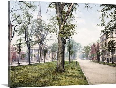 Oglethorpe Avenue Savannah Georgia Vintage Photograph