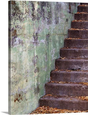 Old Stone Wall and Steps