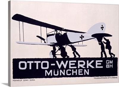 Otto Werke, Munchen, Vintage Poster, by Ludwig Hohlwein