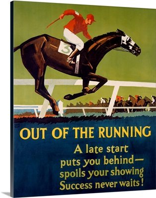 Out of the Running, Vintage Poster, by Frank Mather Beatty