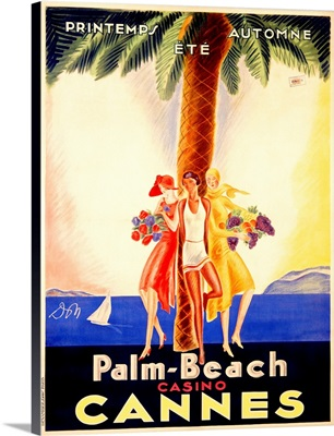 Palm Beach Casino Cannes, Vintage Poster