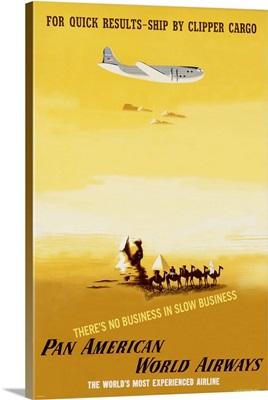 Pan America World Airways, Clipper Cargo, Vintage Poster