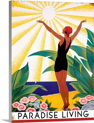Paradise Living Vintage Advertising Poster