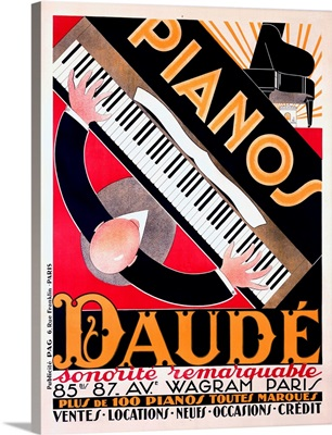 Paris Daube Piano Sales Vintage Advertising Poster