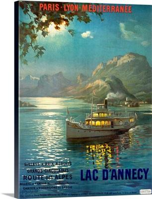PLM, Railroad, Lake dAnnecy, Vintage Poster