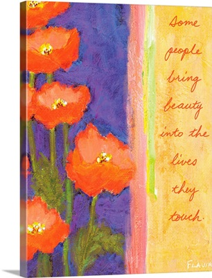 Poppies Inspirational Print