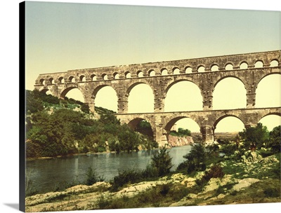 Roman Bridge Over The Gardon, Constructed By Agrippa, Nimes, France