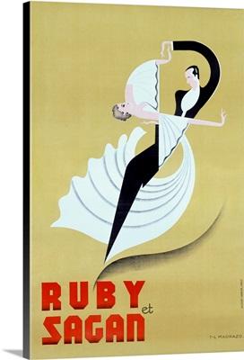 Ruby et Sagan, T.L. Madrazo, Vintage Poster