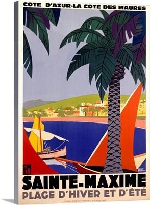 Sainte Maxime, Vintage Poster, by Roger Broders