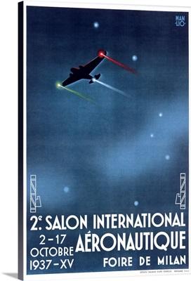 Salon International Aeronautique, Vintage Poster, by Manlio